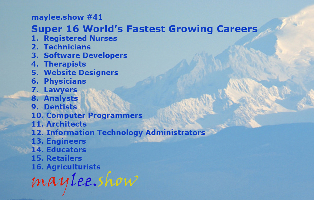 Super 16 Worlds Fastest Growing Careers maylee.show 41